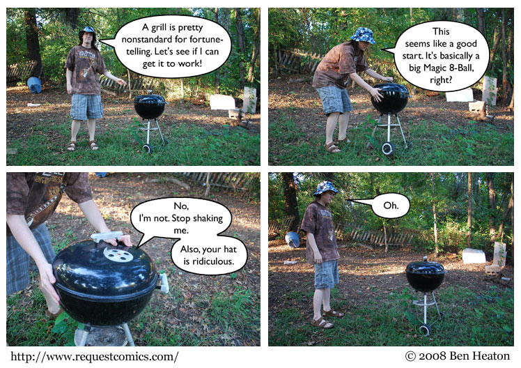 The Grill of Fortune comic