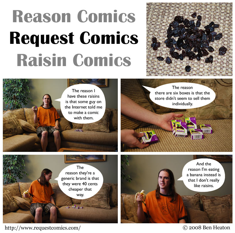 Reasons and Raisins comic