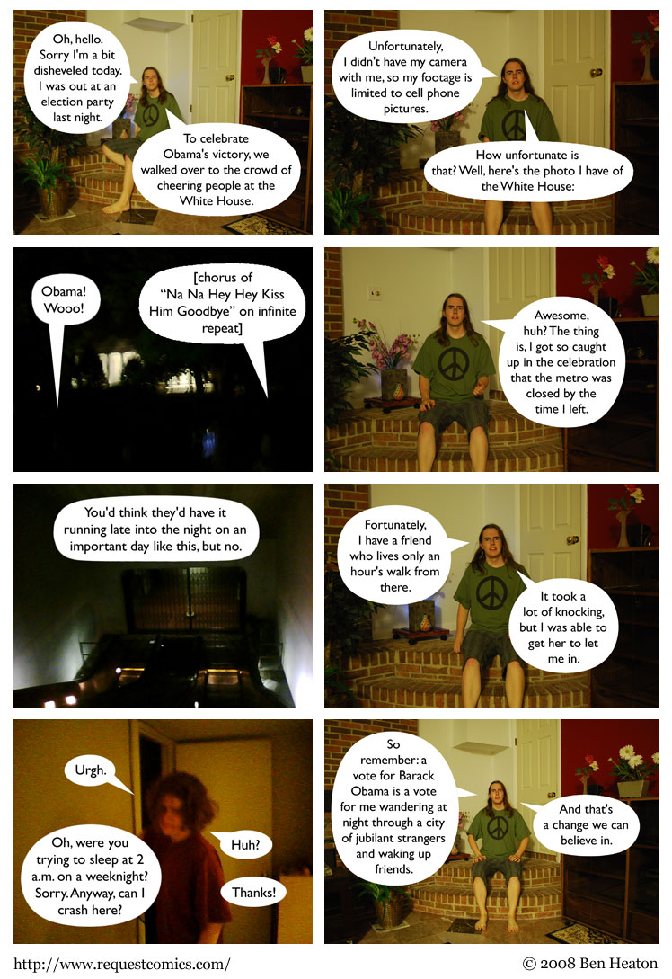 Vote Obama in the Past comic