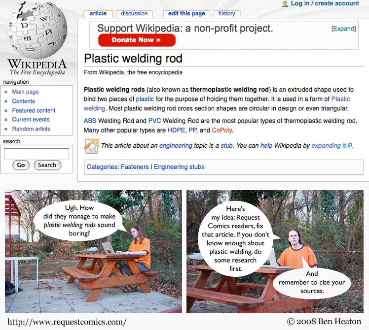Plastic Welding Rods comic