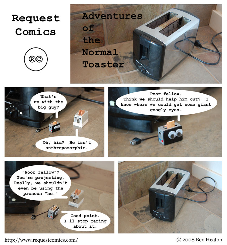 Adventures of the Normal Toaster comic