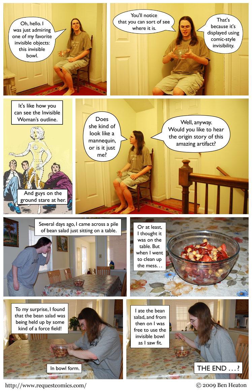 Invisible Bowl comic