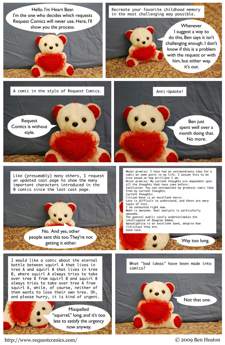 The Bear With The Heart comic