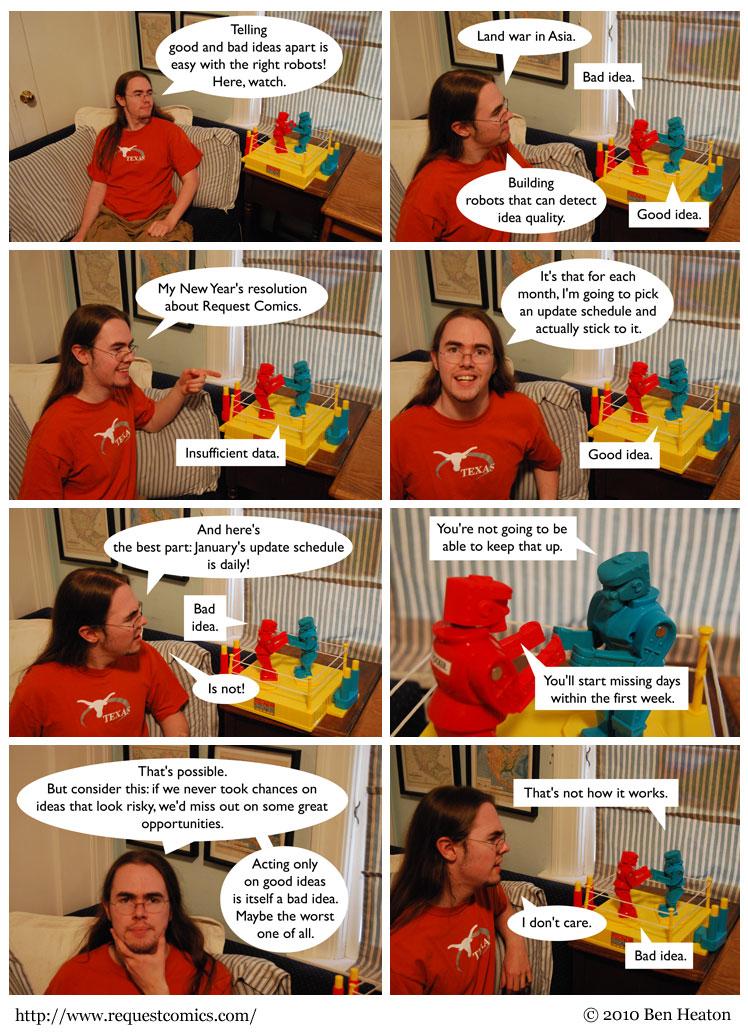 Good Idea, Bad Idea comic
