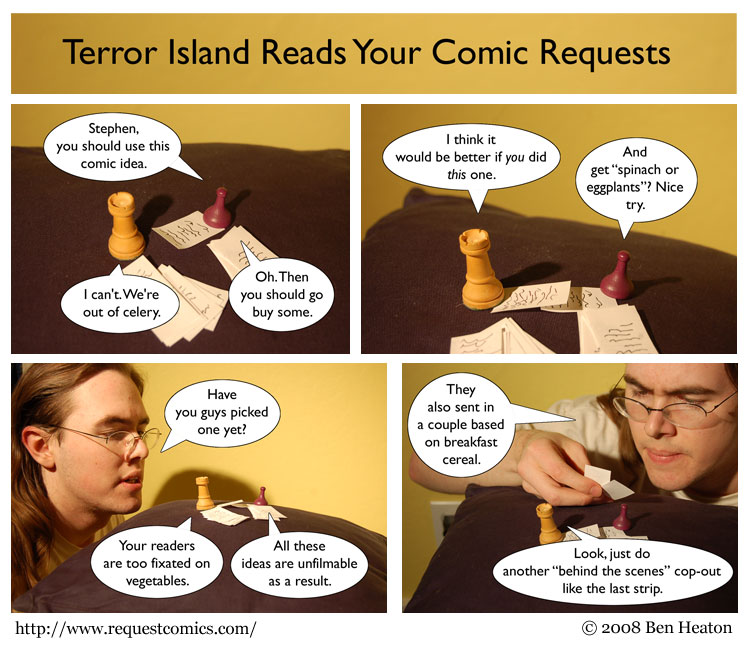 Terror Island Reads Your Comic Requests comic